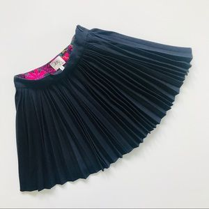 Milly of New York Navy Pleated Mini-Skirt.